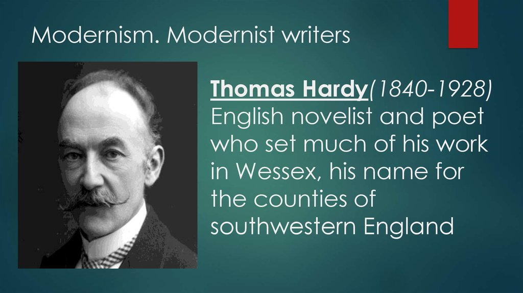 Modernism. Modernist writers
