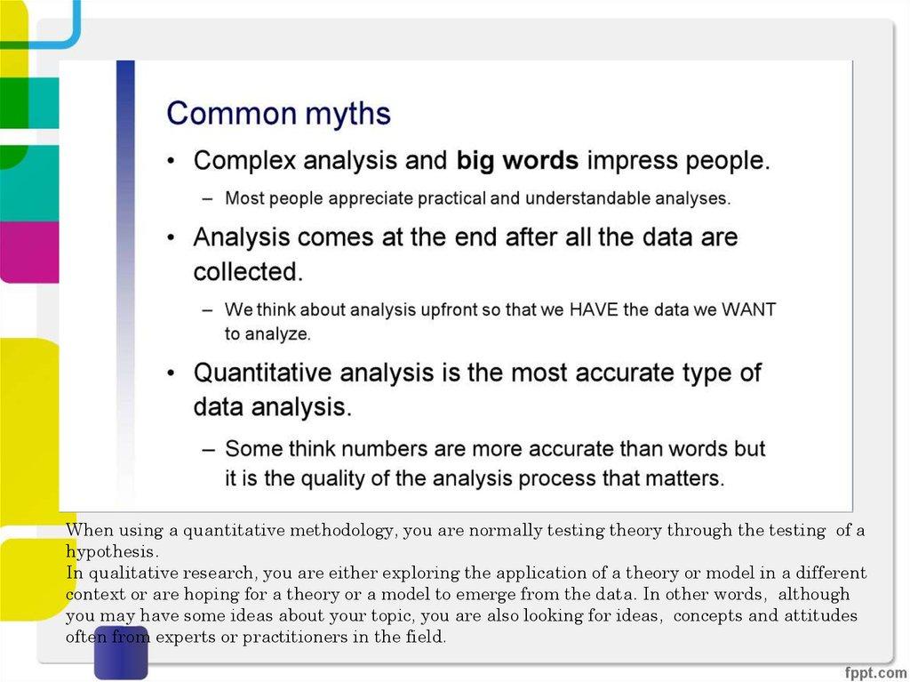 Data analysis - online presentation