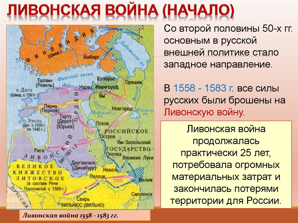 Гдз по истории 7 класс контурные карты ливонская война