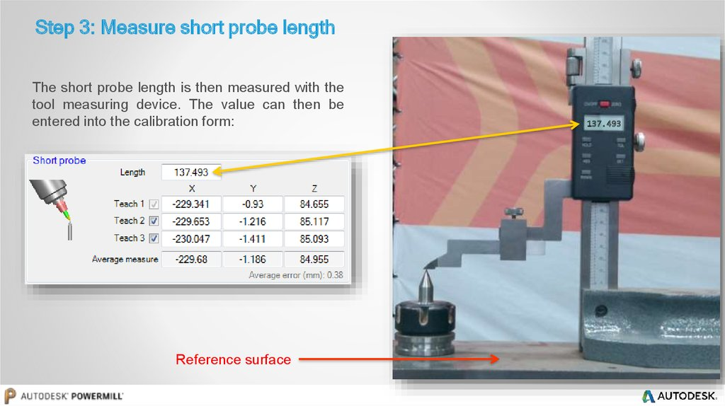 Step 3: Measure short probe length