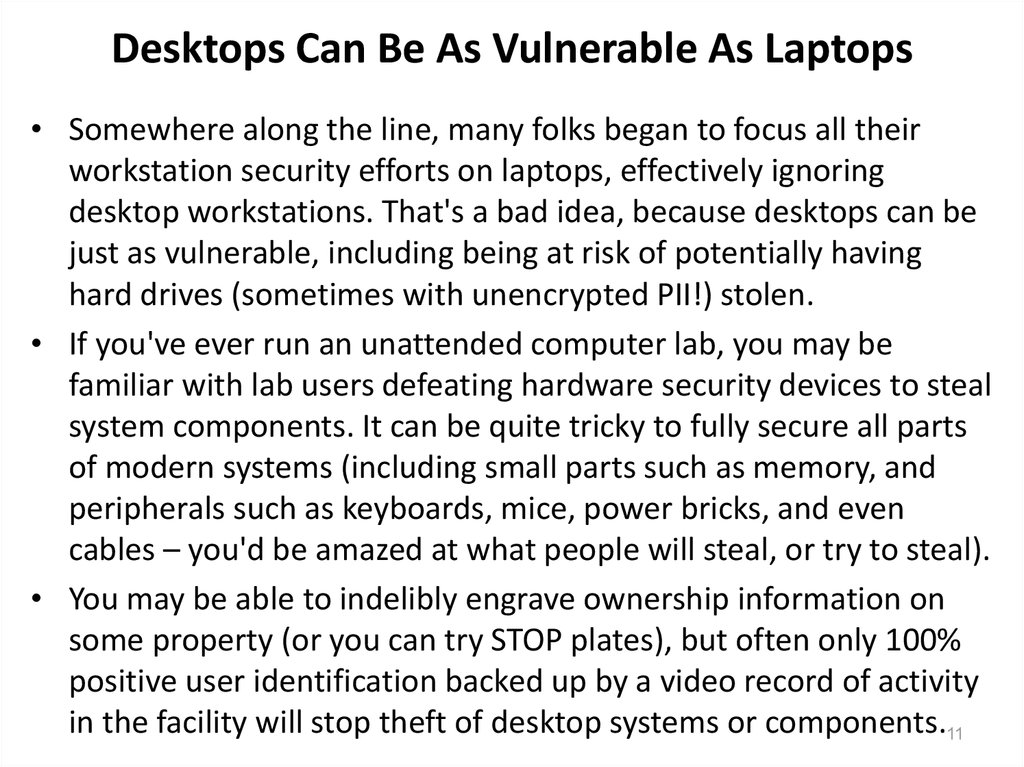 Desktops Can Be As Vulnerable As Laptops