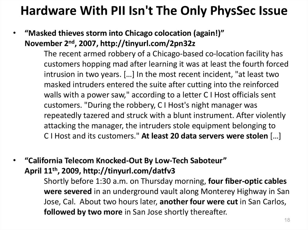 Hardware With PII Isn't The Only PhysSec Issue