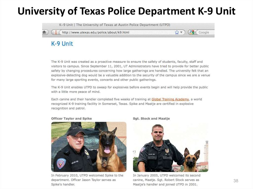 University of Texas Police Department K-9 Unit