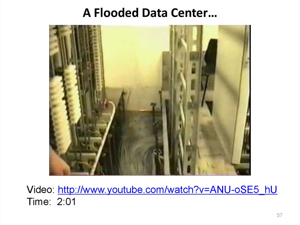 A Flooded Data Center…