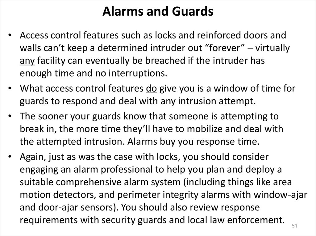Alarms and Guards
