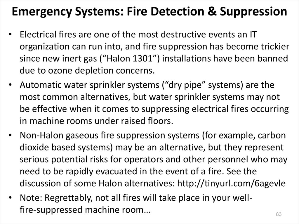 Emergency Systems: Fire Detection & Suppression