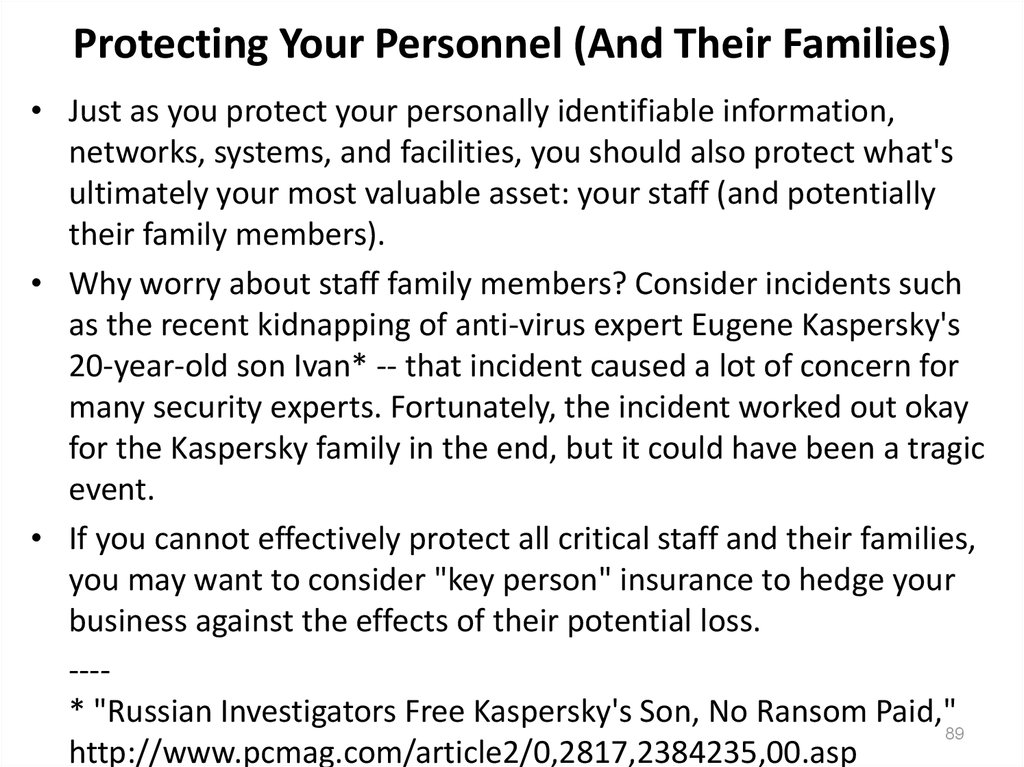 Protecting Your Personnel (And Their Families)