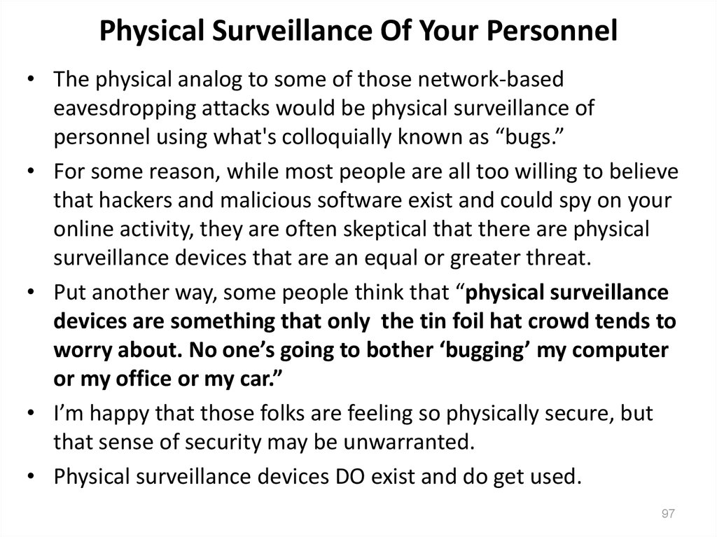 Physical Surveillance Of Your Personnel