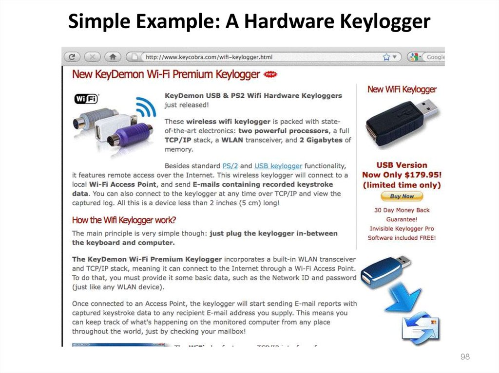 Simple Example: A Hardware Keylogger