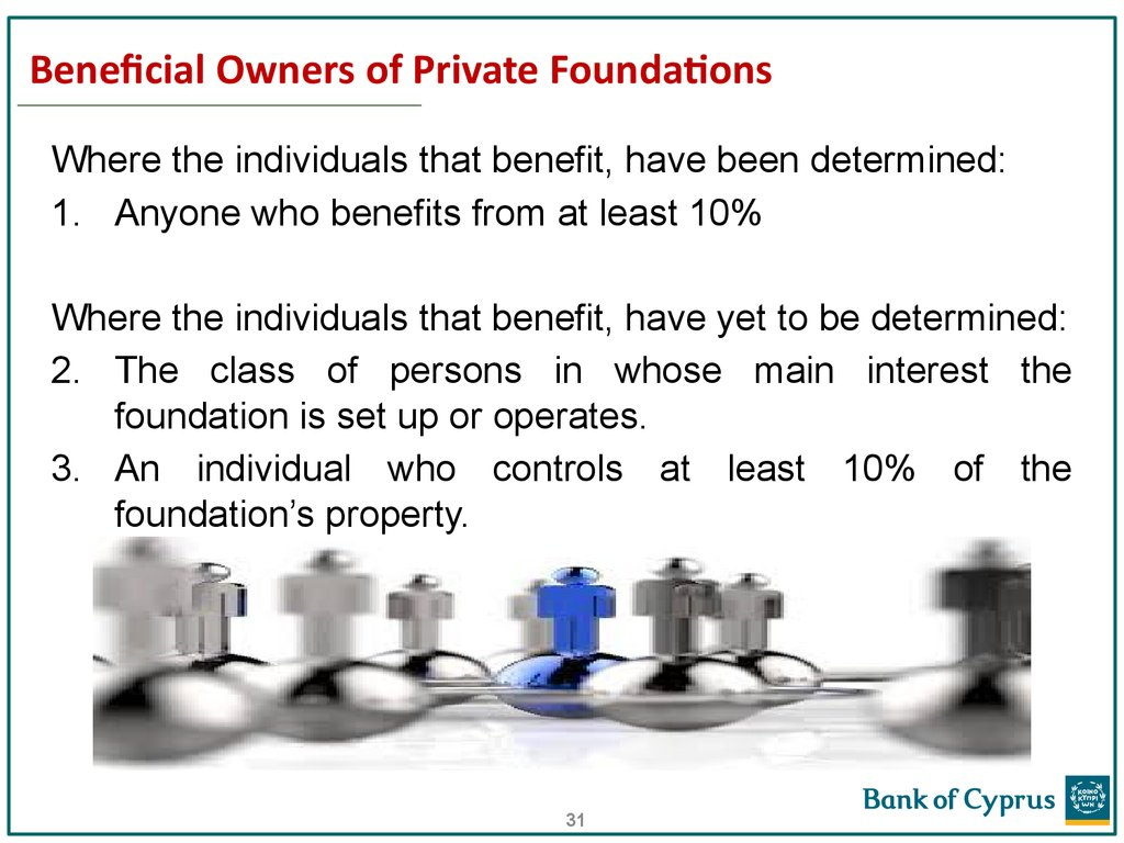 Beneficial Owners of Private Foundations
