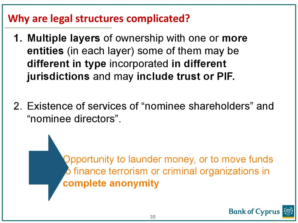 Why are legal structures complicated?