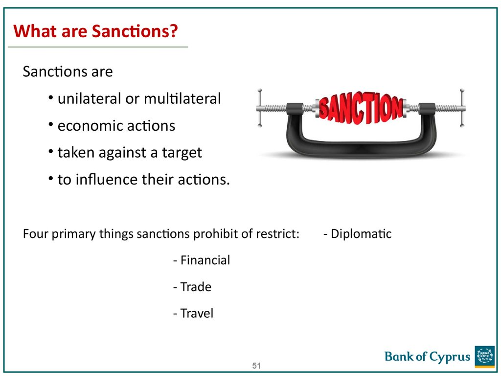 What are sanctions 82
