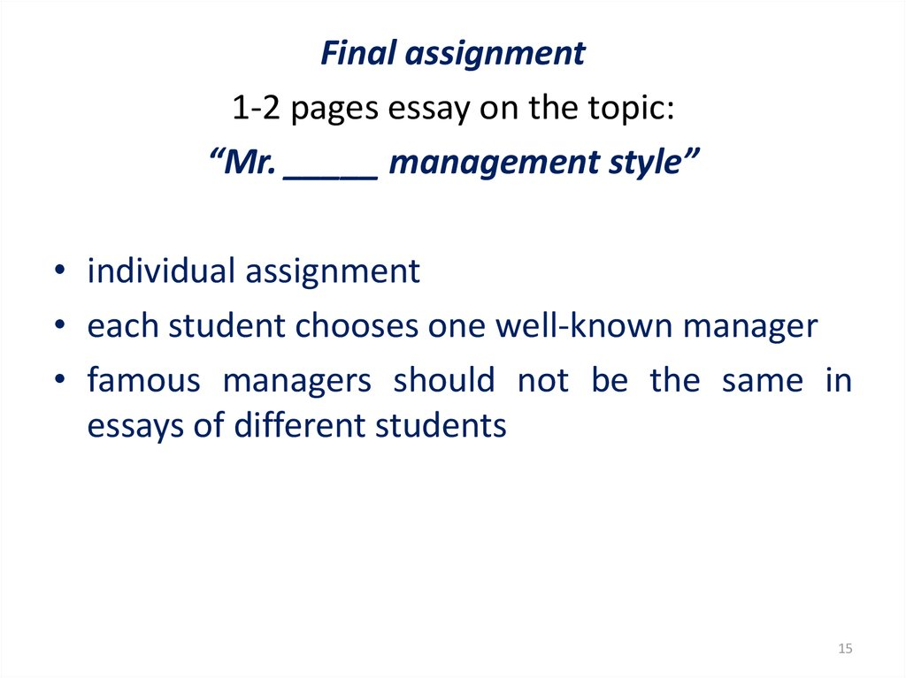 High School Essays Examples  Term Paper Essays also The Thesis Statement Of An Essay Must Be Management Workshop  Online Presentation Annotated Bibliography Example Mla