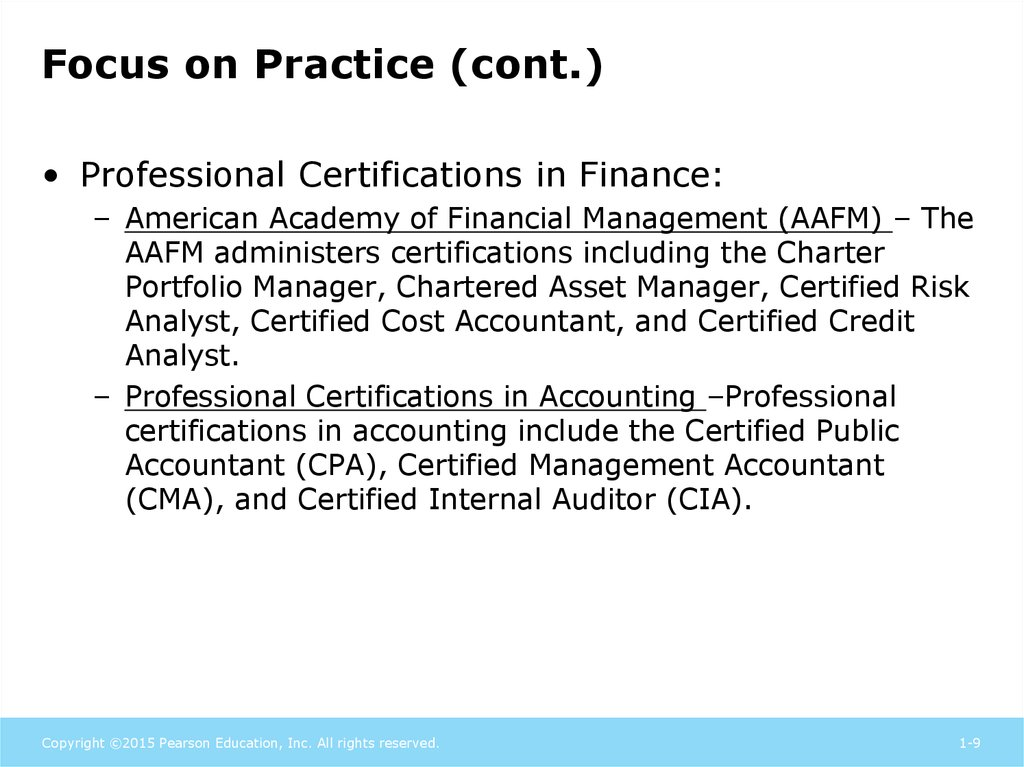 The Role Of Managerial Finance Chapter 1 Online Presentation