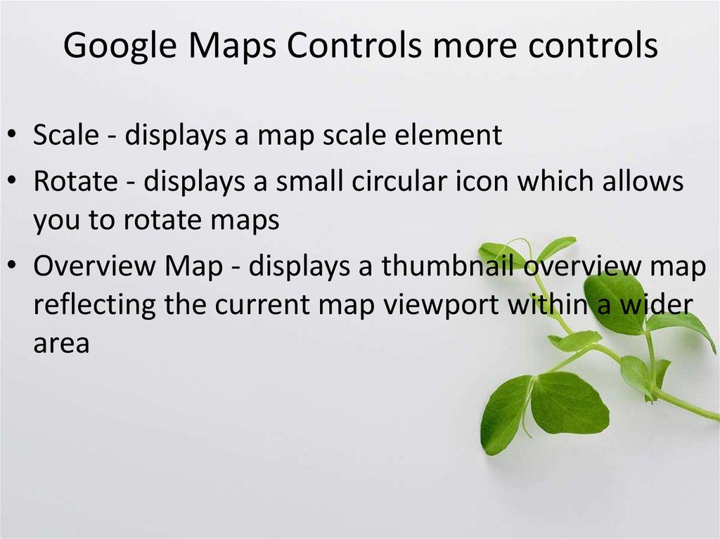 Google Maps Controls - online presentation