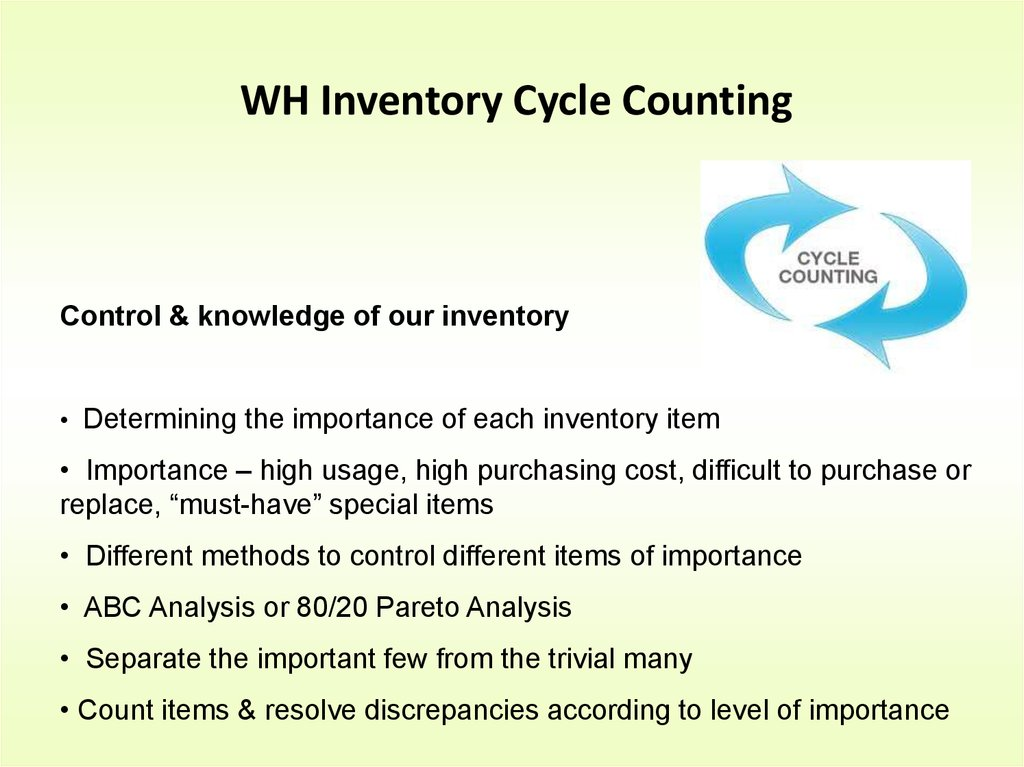 the importance of inventory control