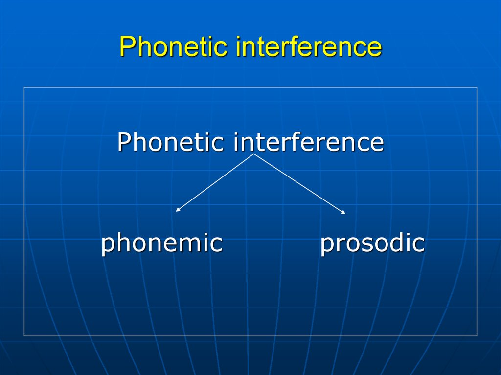 Phonetic interference