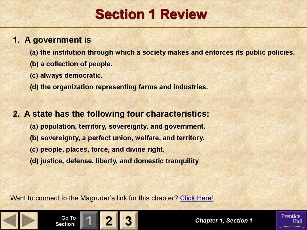 Magruder S American Government Principles Of Government