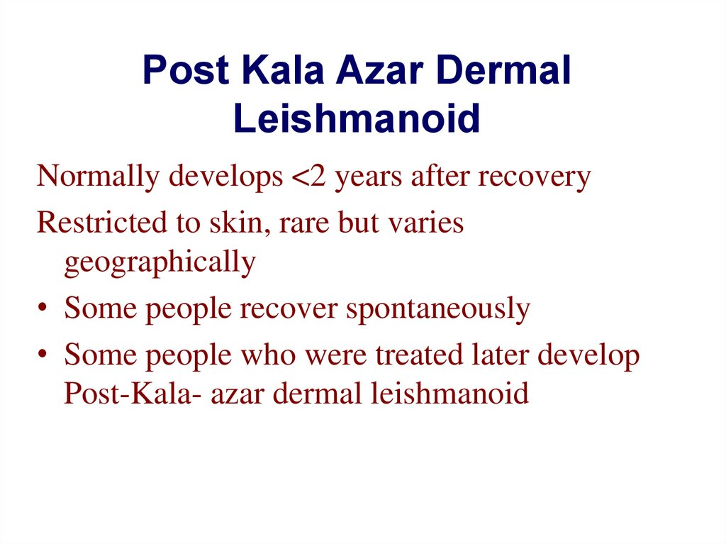 Post Kala Azar Dermal Leishmanoid