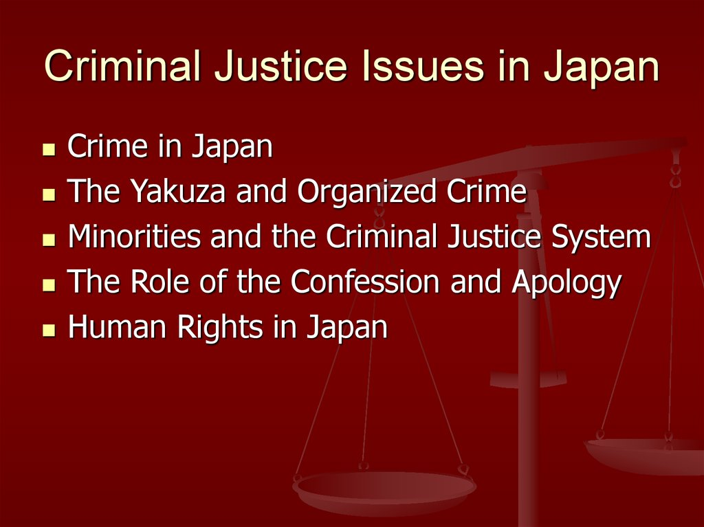 Criminal Justice Issues in Japan