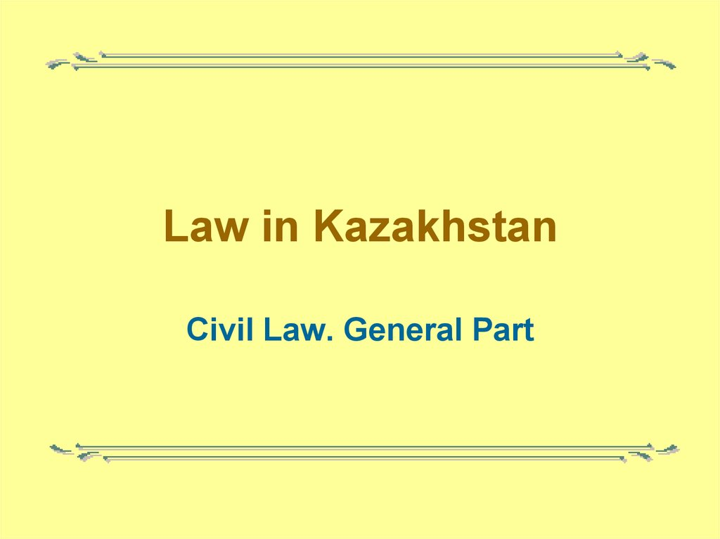 Law in Kazakhstan
