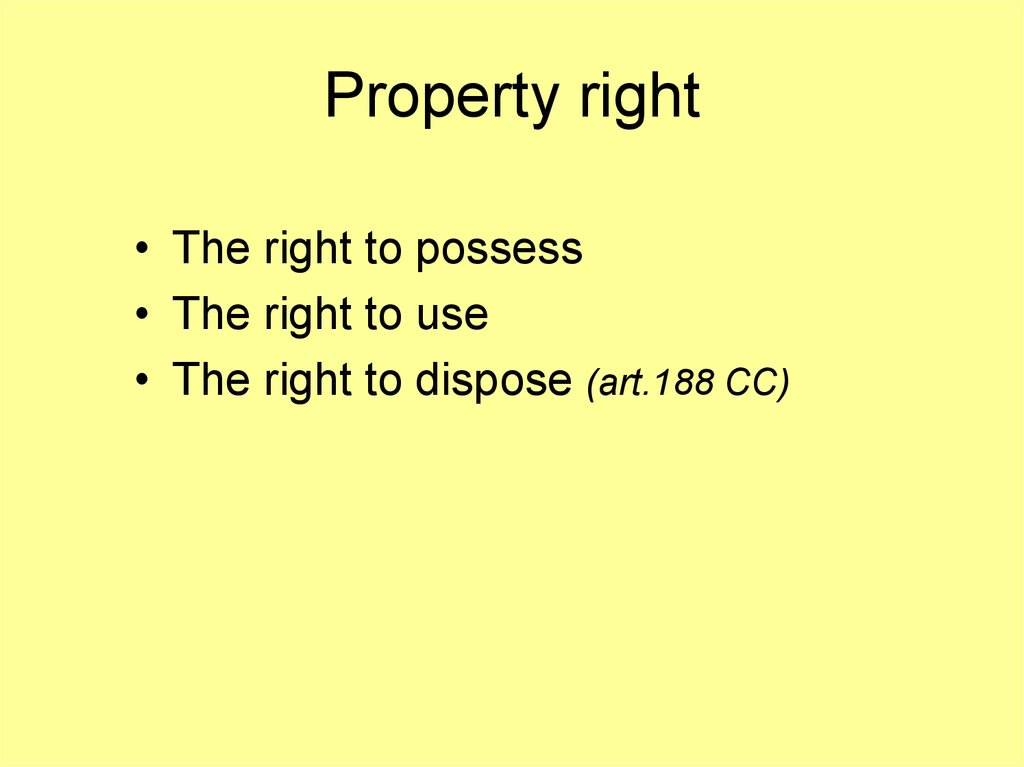 Property right