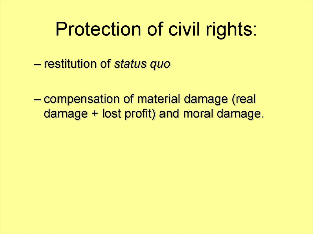 Protection of civil rights: