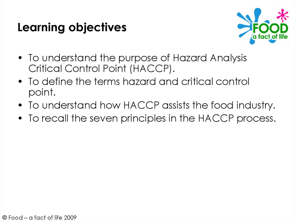 Hazard Analysis Critical Control Point (HACCP) - online