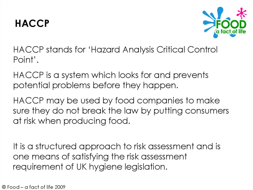 hazard analysis and critical control point haccp system and guidelines for its application annex to cacrcp 11969 rev 3 1997 preamble the first