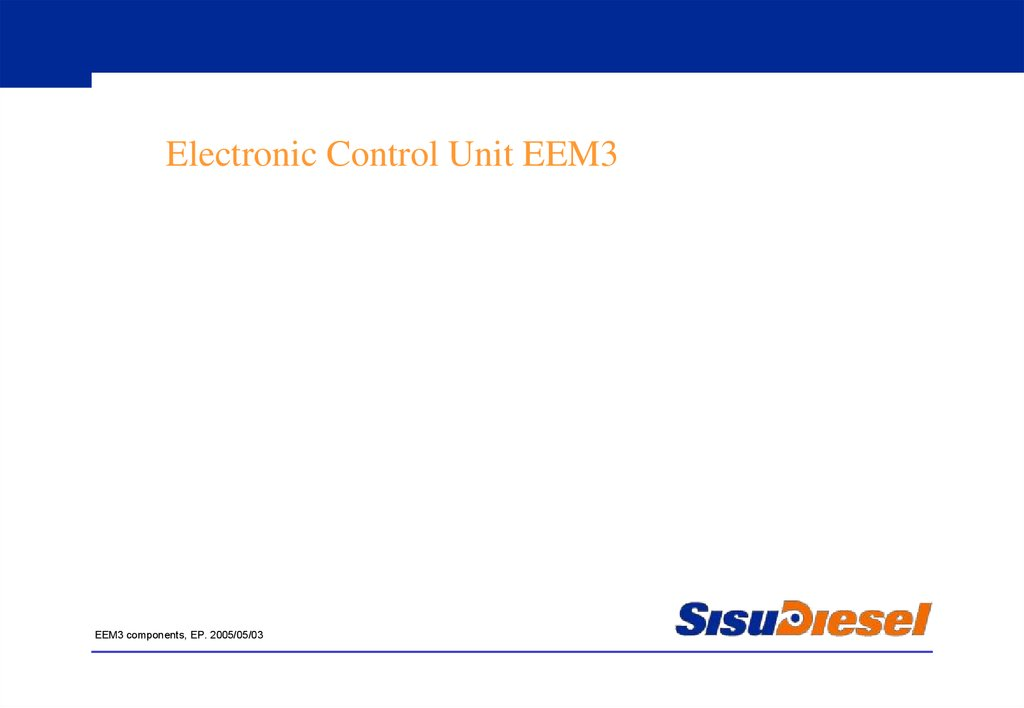 Electronic Control Unit EEM3