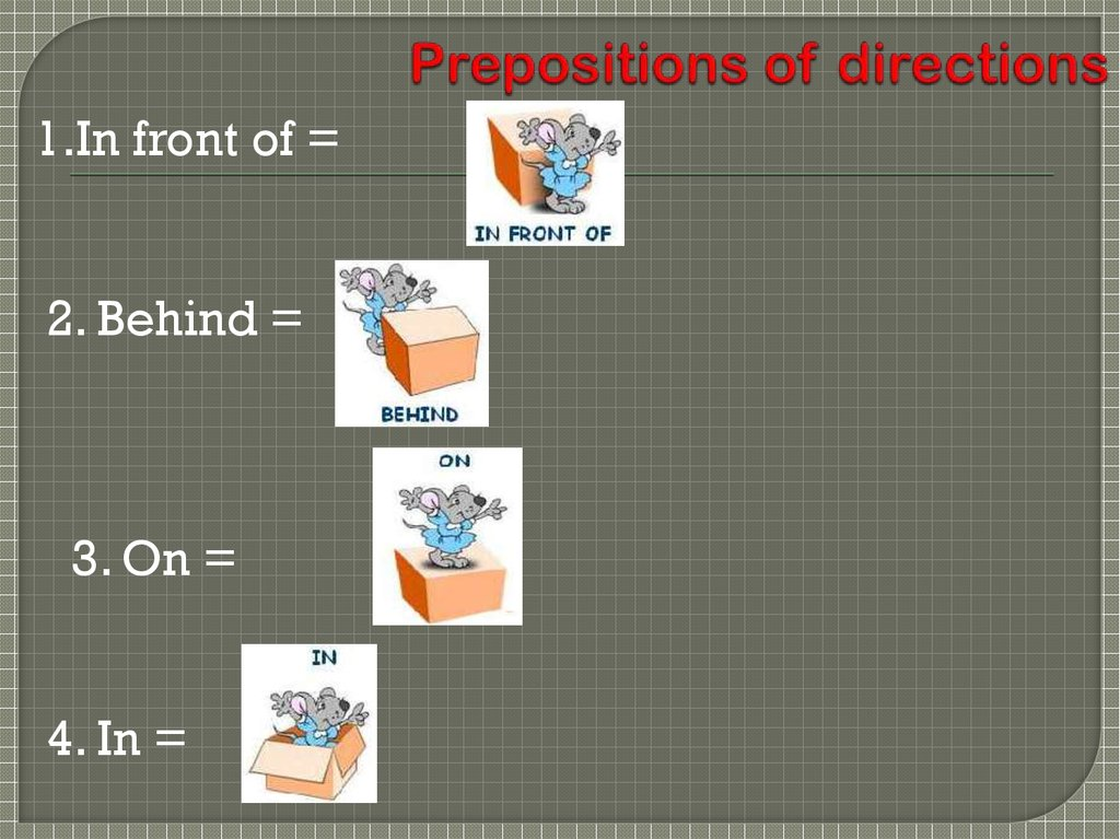 Prepositions of directions
