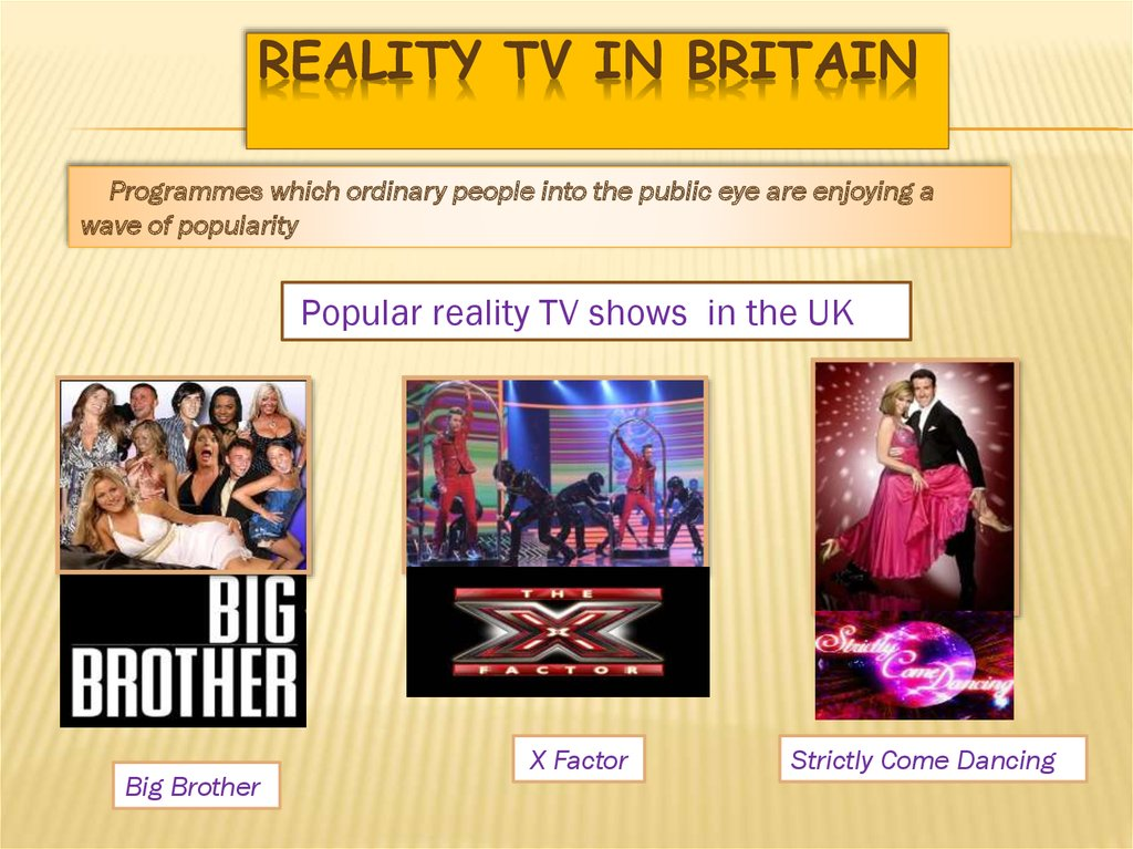 Reality TV in Britain