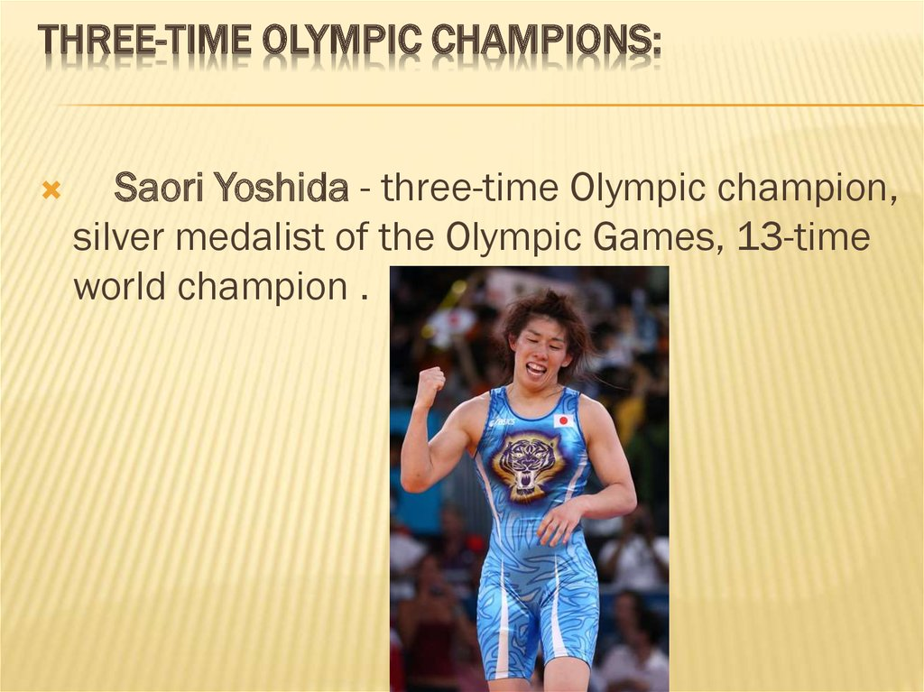 Three-time Olympic champions: