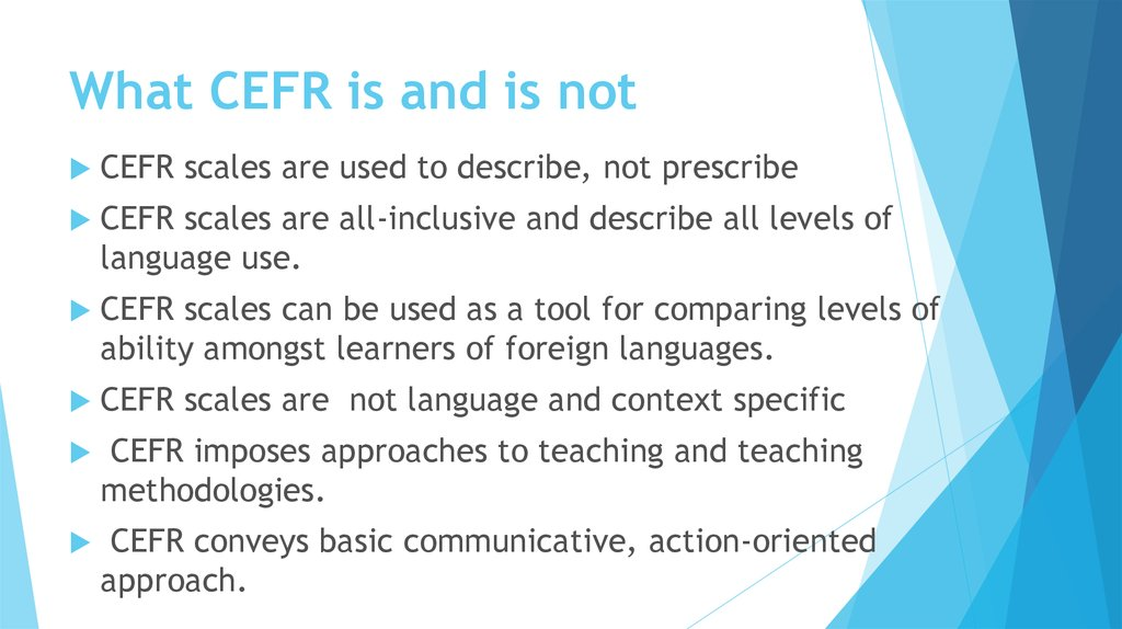 What CEFR is and is not