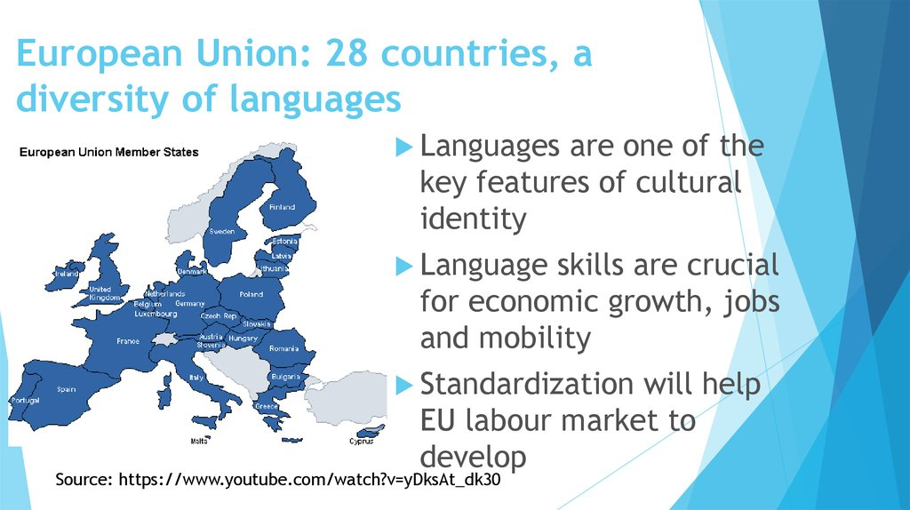 European Union: 28 countries, a diversity of languages