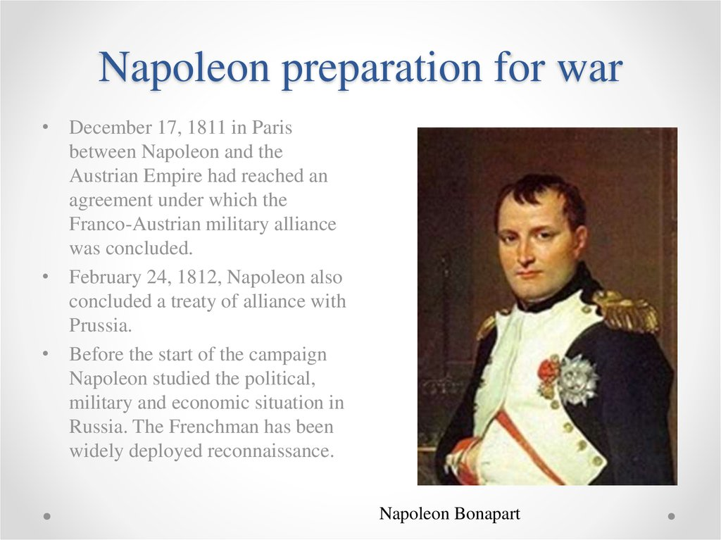 a history of napoleons preparation for the war with russia Janet hartley discusses the mixed responses of russia's populations to napoleon's great gamble on an invasion and the part they played in the eventual french catastrophe.