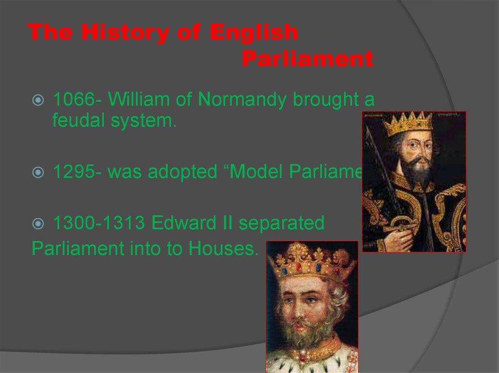 The History of English Parliament