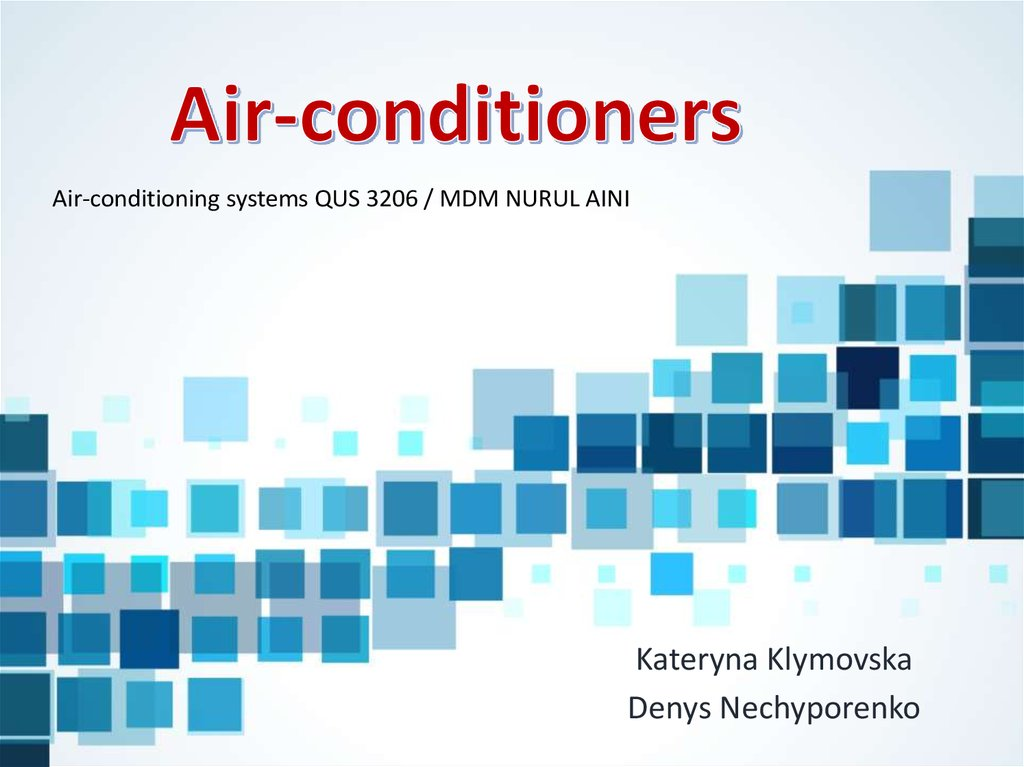 Air-conditioners - online presentation