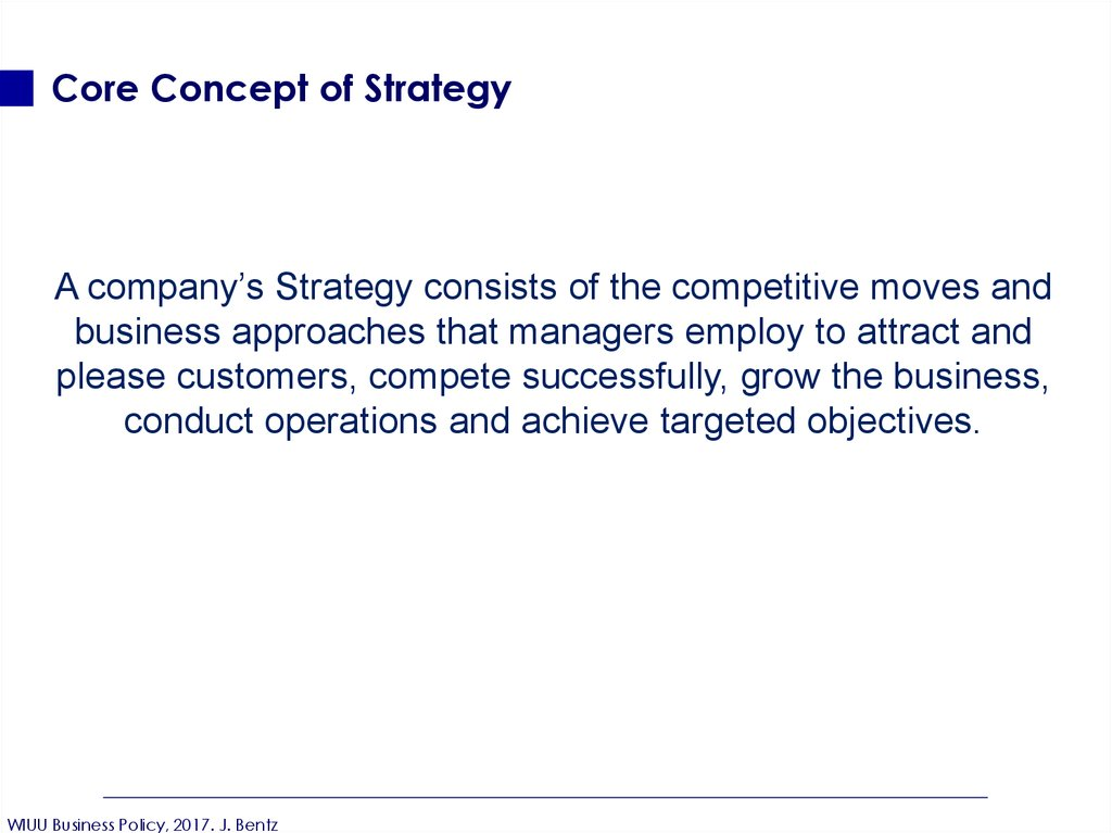 Core Concept of Strategy