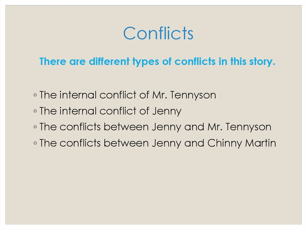 Conflicts