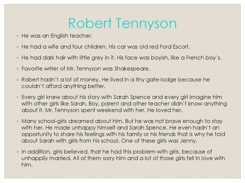 Robert Tennyson