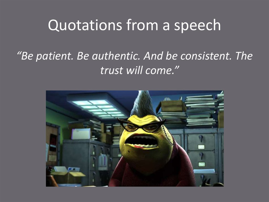 Quotations from a speech