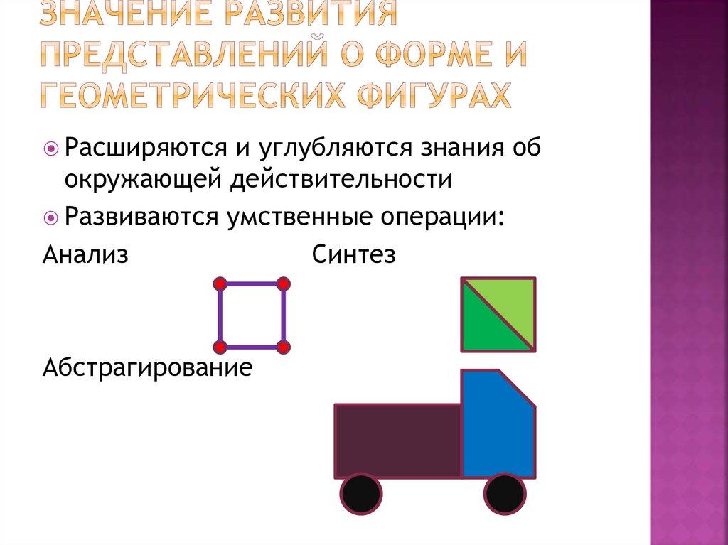знакомство дошкольников с геометрическими фигурами и формой предметов