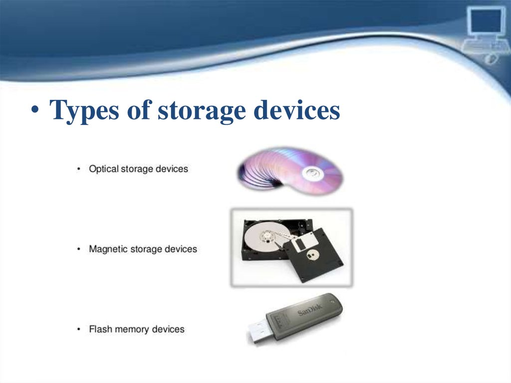 information about storage devices of computer