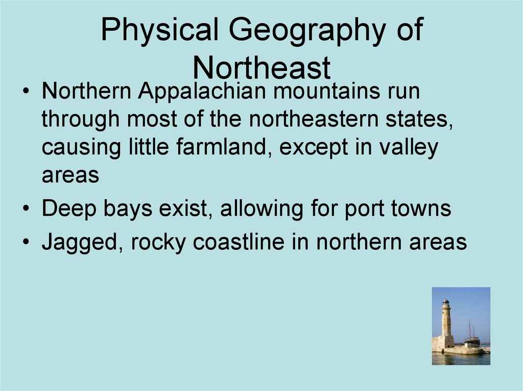 Physical Geography of Northeast
