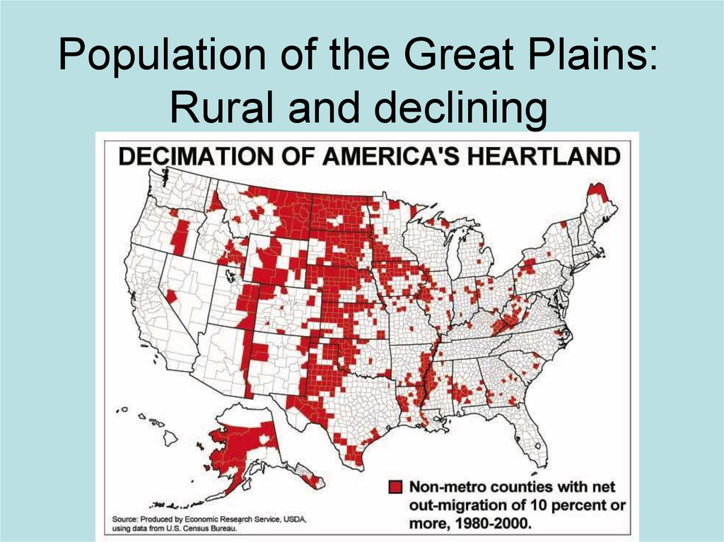 Population of the Great Plains: Rural and declining