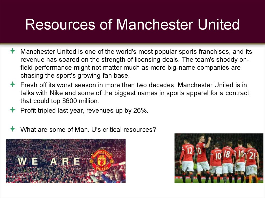 Resources of Manchester United
