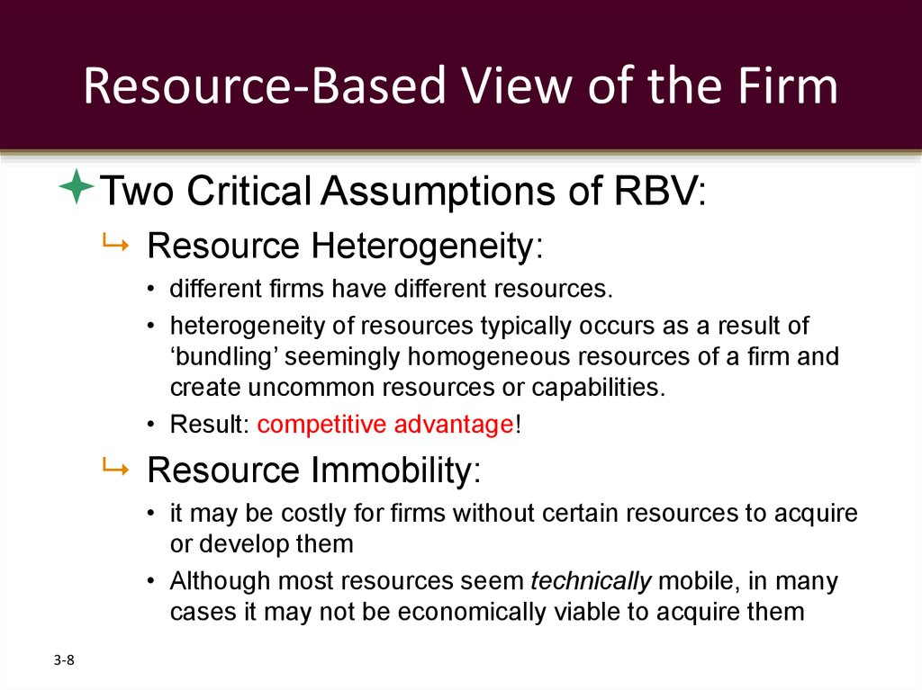Resource-Based View of the Firm