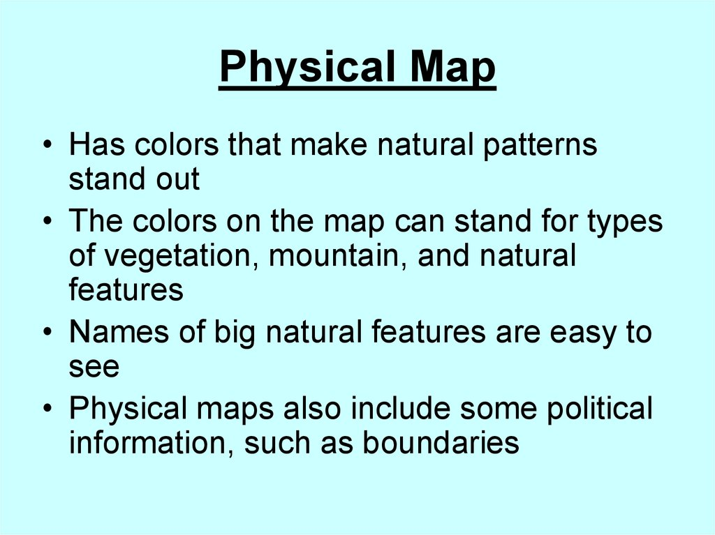 How are different types of maps distinguished? - online ...  Kinds Of Maps on