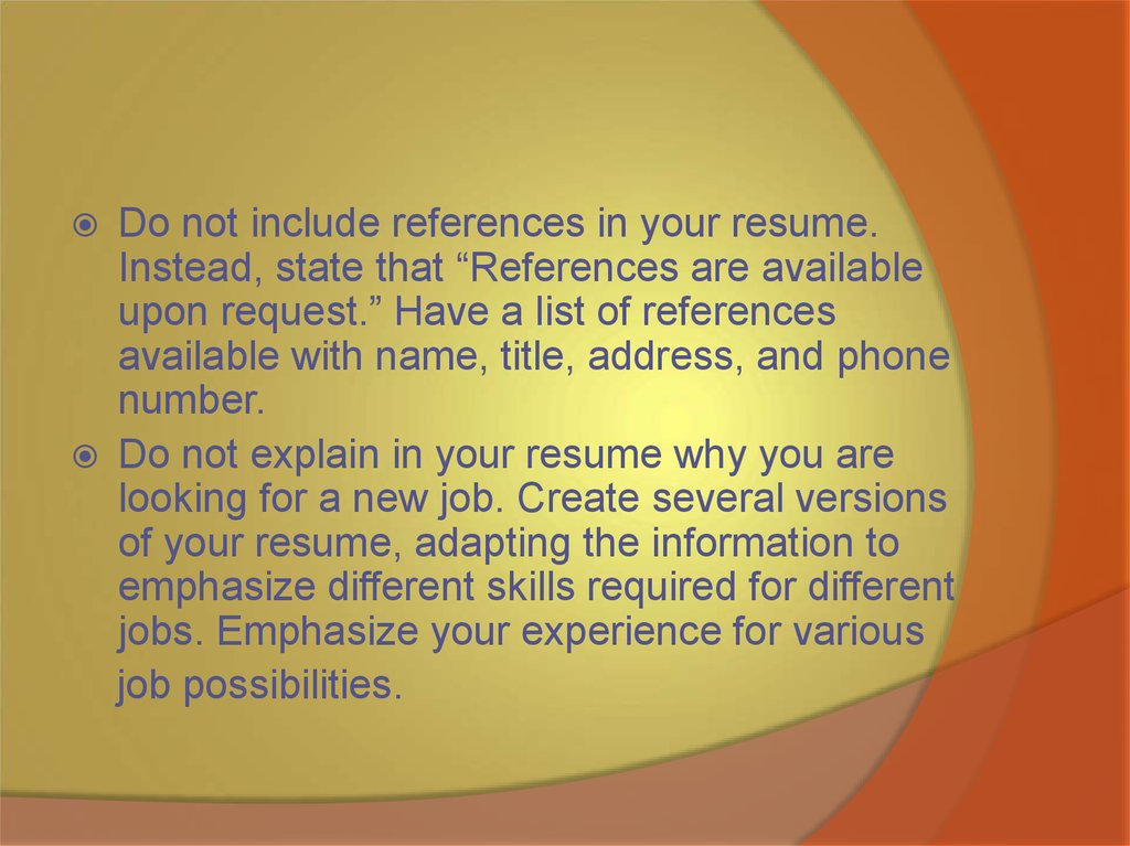 Resumes Cvs And Covering Letters In English Online Presentation